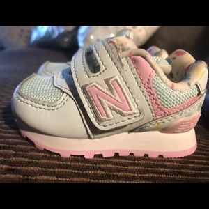 New balance baby girl size 2 shoes